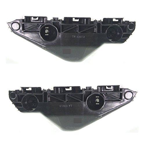 Partomotive For 07-12 Yaris Front Bumper Cover Retainer Support Bracket Left Right SET - Yaris Bumper Toyota Bracket