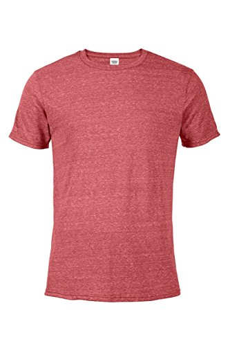 Casual Garb Men's Snow Heather Fitted T Shirt Short Sleeve Crew Neck T-Shirts for Men Red XX-Large ()