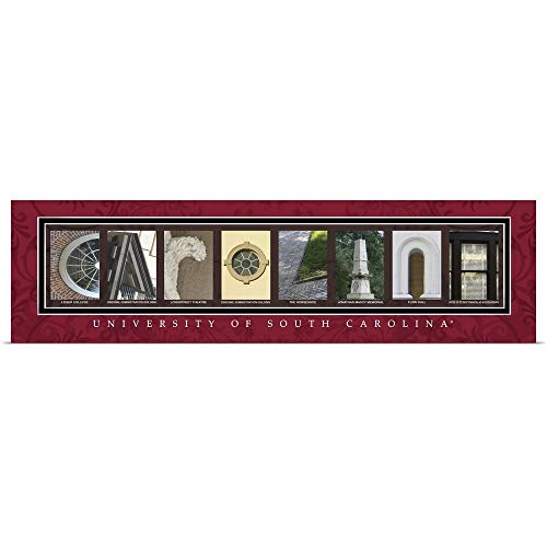 (Great Big Canvas Poster Print Entitled Carolina - University of South Carolina Campus Letters by Campus Letter Art 48