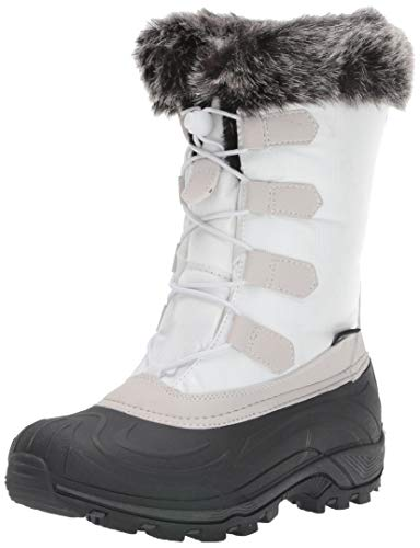 TECS: Warm Winter Boots for Women, Insulated, Non Slip, Insulated, Felt Liner + Waterproof Boots, Snow Boots for Women, White, 8 M US (Totes Womens Winter Boots Size 8)