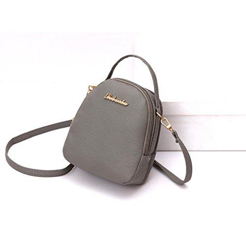 FitfulVan Clearance! Hot sale! Bags, FitfulVan Women Casual Small Style Rucksacks Shopping Bag Soft Shoulder Bags Crossbody Bag (Gray)
