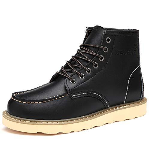 Black Fur Calientes Hombre Tobillo De Trabajo No Zapatos Cómodas Martin Súper Moda Hombres Ocio Botas Los Para Nieve Fhcgmx Cuero pqHFyUcA1