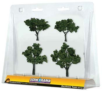 - Woodland Scenics SP4150 Deciduous Tree, 2-Inch- 3-Inch, 4/Pack