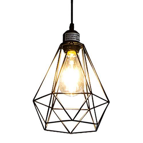 Pendant Design Lighting (POPILION Industrial Vintage Design Metal Black Art Deco Pendant Light, Pendant Lighting Fixture)