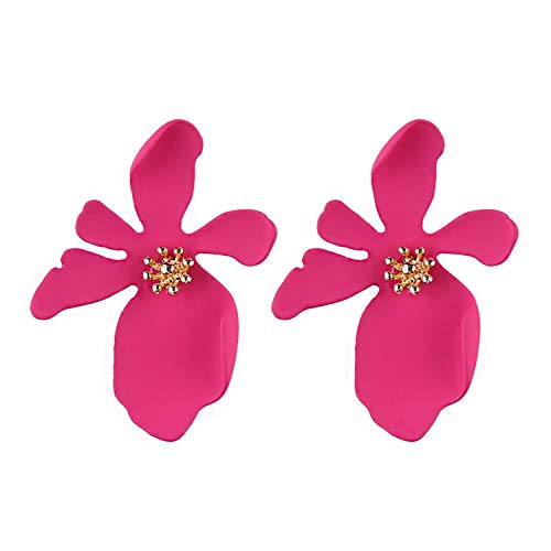 Bohemian Summer Flower Statement Earrings Women Big Dangle Drop Earrings Girls Party ()