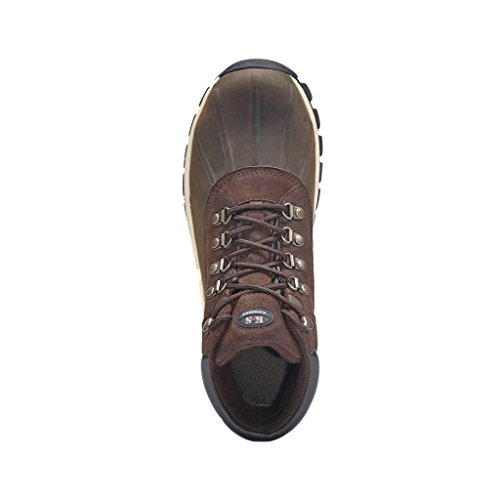 Height Warm Kingshow Winter Boot Mens Leather Waterproof Brown 1428 High Snow qxCpwYP