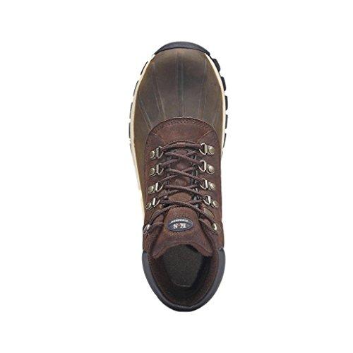 Kingshow - Mens Warm Waterproof Winter Leather High Height Snow Boot Brown 1428 GHSdiEKgX