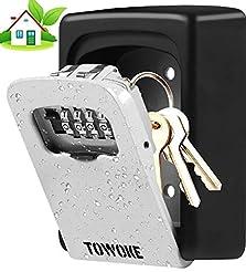 Key Lock Box Wall Mount - TOWOKE Waterpr...
