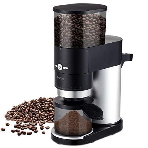 ENZOO Burr Coffee Grinder, Conical Electric Coffee Bean Grinder with Detachable Design for Easy Cleaning, Portafilter…