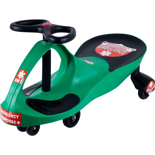 Ambulance Car Ride on Toy Wiggle Car by Lil' Rider- Ride on Toys for Boys and Girls, 2 year old and up