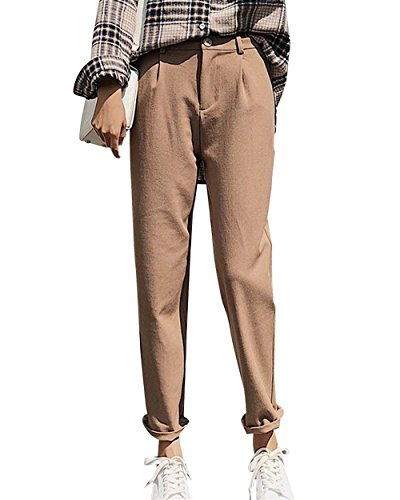 Waist Fashion Allentato Pantaloni Pantaloni Colori Primaverile Adelina Libero Tempo Pantaloni Donna Femminile Slim Kaki High Donna Estivi Solidi Costume Pantaloni Eleganti Dritti Per Grazioso wAEnY