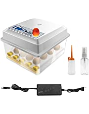 Hatching Eggs Incubator Safego 16 Eggs Digita Mini Automatie Incubatores with Turner for Hatching Turkey Goose Quail Chicken Eggs,Built-In Egg Candler Tester,Small Egg Hatcher Machine