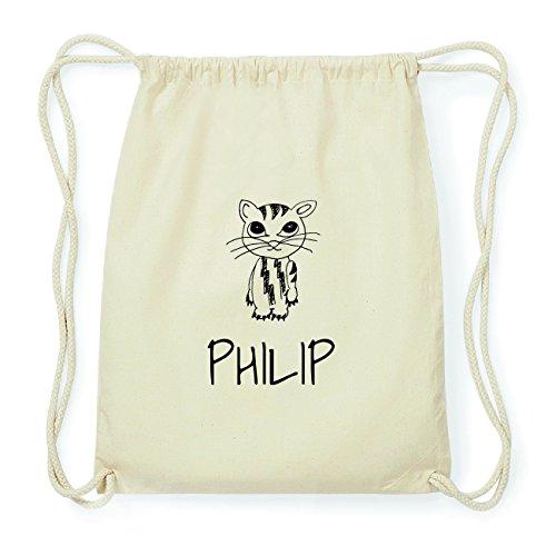JOllipets PHILIP Hipster Turnbeutel Tasche Rucksack aus Baumwolle Design: Katze MOySgI