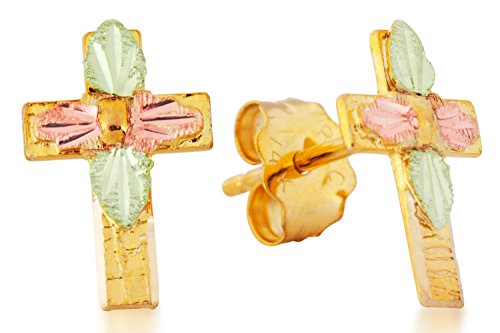 Black Hills Gold Cross Earrings (Child) by Black Hills Gold Jewelry