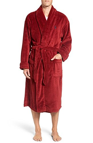 Polo Ralph Lauren Microfiber Robe One Size (Avenue Red/Cruise Navy)