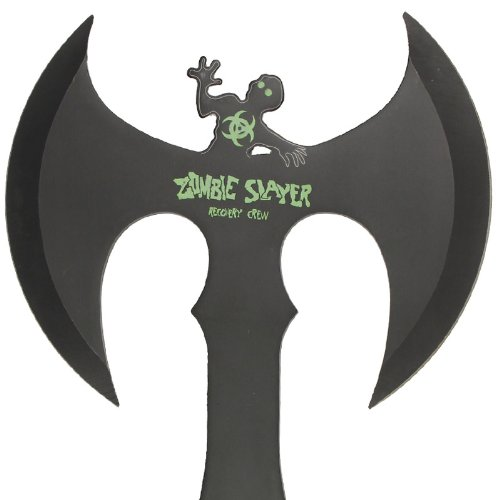 Zombie Slayer Full Tang Double Headed Axe Green