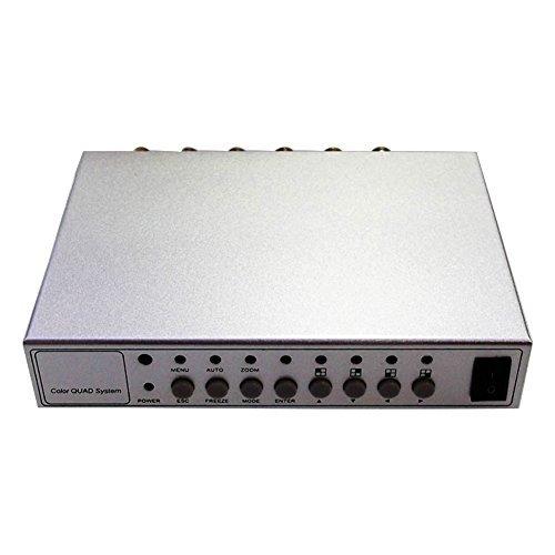 Premia HD Splitter Quad Cctv Video Camera Processor System Kit Switcher Color (Metal Shell)