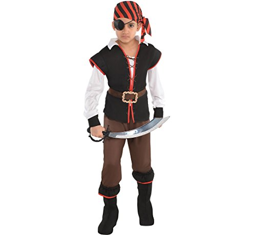Rebel Of The Sea Modern Pirate Party Costume, Fabric, Children's Extra Large (14-16), 5-Piece Set ()