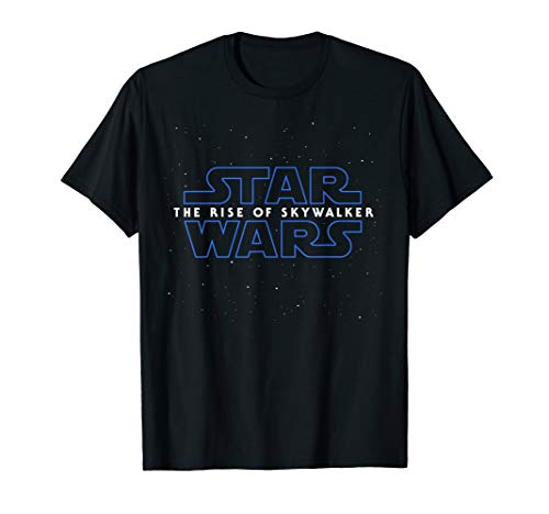 Star Wars The Rise Of Skywalker Episode 9 Movie Space Logo  T-Shirt