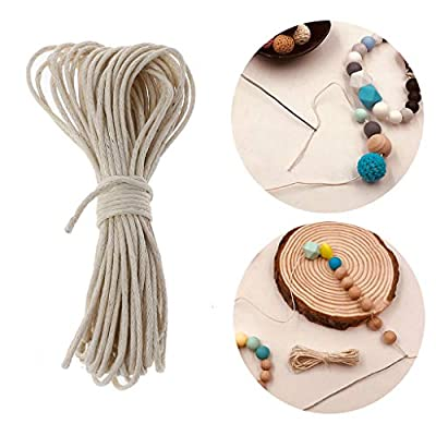 1mm Waxed Cotton Cord for Jewelry Making, Baby Teether Accessories Rope Waxed Twisted String Thread Line for DIY Teething Toys : Baby