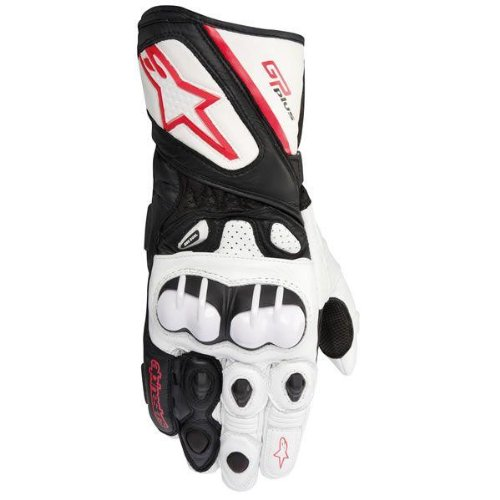 - Alpinestars GP Plus Motorcycle Gloves - White / Black