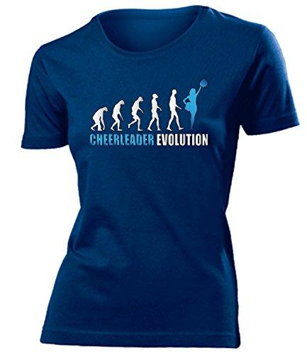 CHEERLEADER EVOLUTION mujer camiseta Tamaño S to XXL varios colores marina / Azul