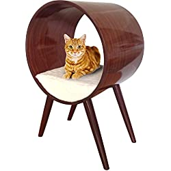 Penn Plax Modern Cat Bed, Round Stylish Cat Furniture for All Breeds and Sizes
