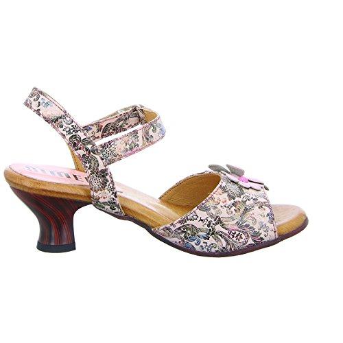 Simen 0220a Dames Sandalette Trechter Hiel Afdruk Roze (pink) Roze (pink)