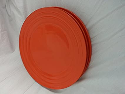 Rachael Ray (Tangerine) Orange Double Ridge Dinner Plate 11\u0027\u0027 (Set of & Amazon.com | Rachael Ray (Tangerine) Orange Double Ridge Dinner ...