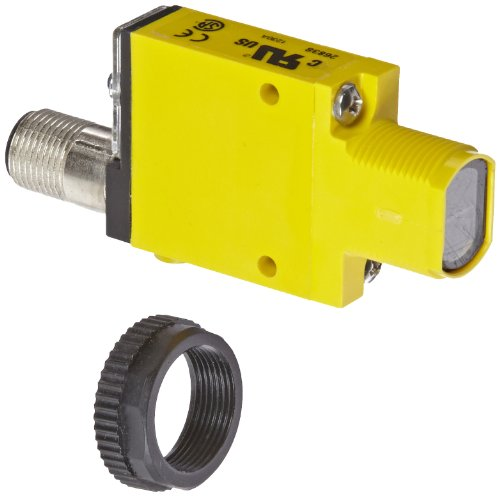Banner SM312LVQD Mini Beam Photoelectric Sensor, Non-Polarized Retroreflective Sensing Mode, 4-Pin Euro-Style QD Connector, Visible Red LED, 10-30 VDC Supply Voltage, Bipolar (NPN and PNP) Output, 5 m Sensing Range