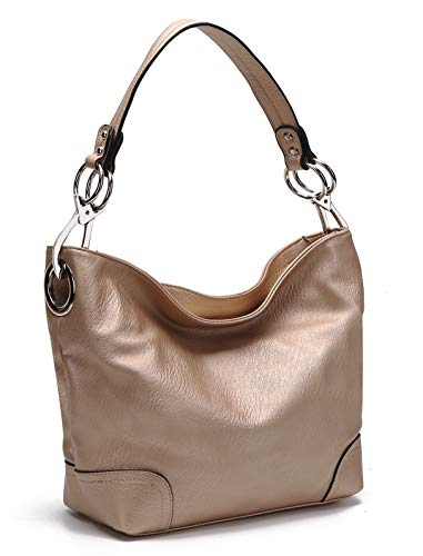 - MKF Hobo bag for Women - Satchel-Tote shoulder Bag - Vegan Leather Womens Purse Top Handle Pocketbook Handbag Rose Gold