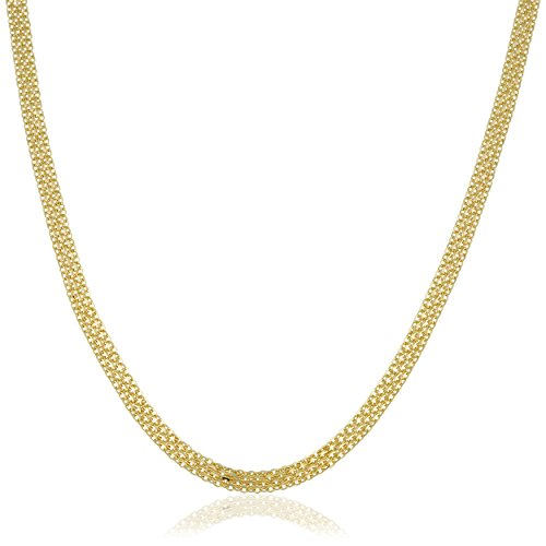 Kooljewelry 14k Yellow Gold 4.5 mm High Polish Bismark Necklace (18 inch)