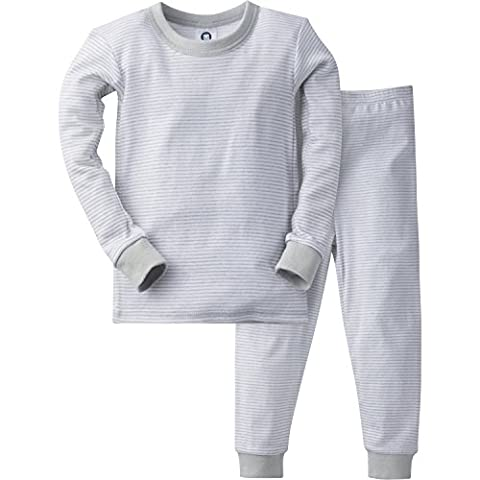 Gerber Baby Boys' 2 Piece Cotton Pajama, Gray Stripes, 24 Months - Baby Boy Pajamas