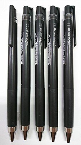 Pilot juice up 04 Retractable Gel Ink Pen, Ultra Fine Point 0.4mm, Black Ink, LJP-20S4, Value Set of 5
