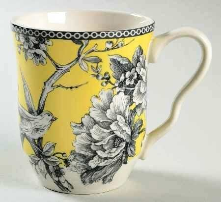 222 Fifth Adelaide Yellow Fine Porcelain Mug