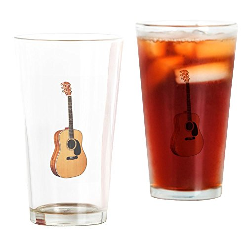 CafePress Acoustic Guitar Pint Glass, 16 oz. Drinking Glass