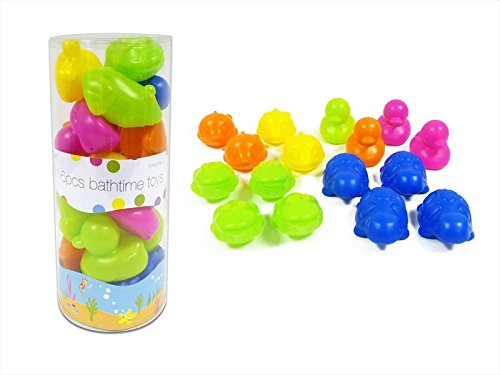 First Steps 16-Piece Bathtime Toys (Multicoloured) PS097