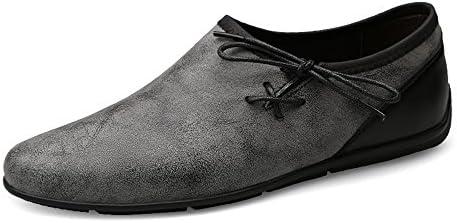 You Are Fashion 男性は夏の本物の革のローファーの男性の靴モカシンを運転する快適なスリップオンオフィスビジネスドレスフォーマル男性の靴古代の方法ソフトボートモカシン (Color : グレー, サイズ : 27.5 CM)