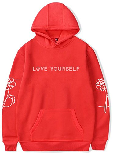 リークバラエティさわやかSERAPHY BTS パーカー バンダン Love Yourself 防弾少年団ロゴ付き コート フード付き 棉 通気 韓流 ヒップホップ 日常服