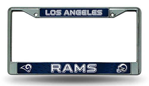 Los Angeles Rams LBL NEW COLORS Chrome Frame Metal License Plate Tag Cover Football