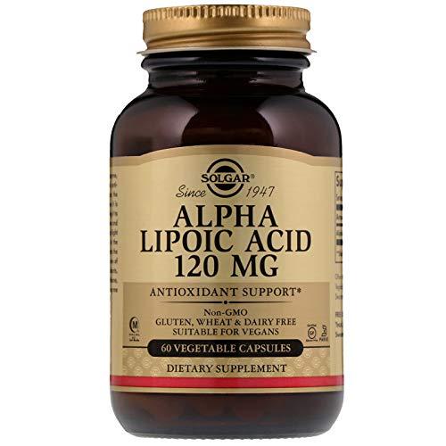 Solgar Alpha Lipoic Acid 120 mg, 60 Vegetable Capsules