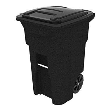 Toter 64 Gallon 2-Wheel Trash Can Cart, Blackstone