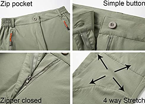 LuNanLongXi Hiking Pants Women Convertible Outdoor Trail Pant Water and Stain Resistant