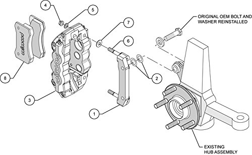 Amazon Com New Wilwood Red Brake Caliper Pad And Bracket Set For