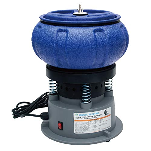 (Leegol Electric Rock Tumbler 5LB Vibratory Tumbler Bowl Tumbling Polishing Machine - Polishing Small Metal Parts)