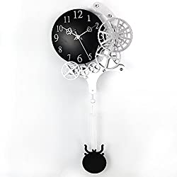 Enjoyable Life 12-inch Fashionable Gear Pendulum Clock/wall Clock, Contemporary Mechanical Design, Home Room Decor, Quartz Movement (HY-G-049)