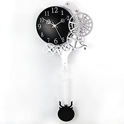 Enjoyable Life 12 Inch Fashionable Gear Pendulum Clock/wall Clock,  Contemporary Mechanical Design