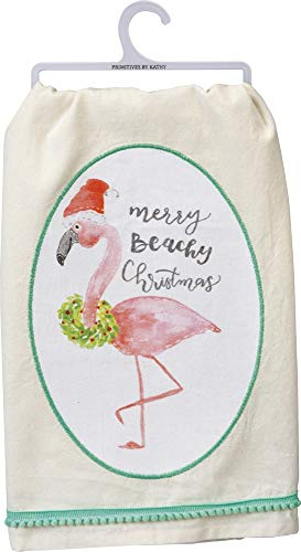 Primitives by Kathy Merry Beachy Christmas Dish Towel