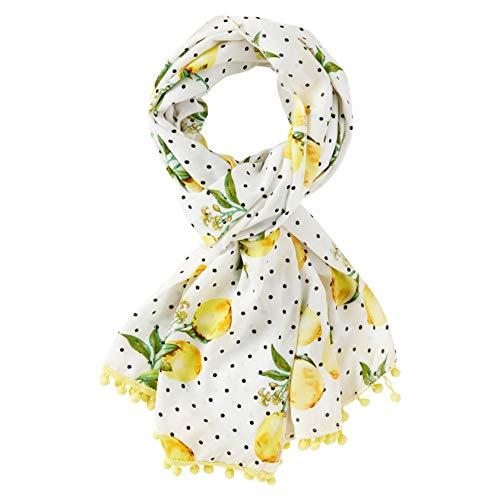 Joe Browns Womens Lemon Polka Dot Pom Pom Scarf Multicolored One - Dot Multi Polka Scarf Colored
