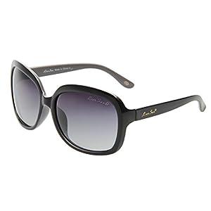 LianSan Oversized Women's Sunglasses Uv400 Protection Polarized Simple Sunglasses Lsp301(black frame gradient black lenses)